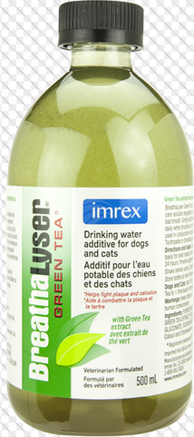 Breathalyser Oral Care Green Tea Water Additive for Dogs and Cats