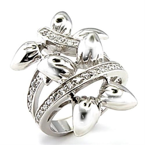 Flower Petals Silver Bold Ring