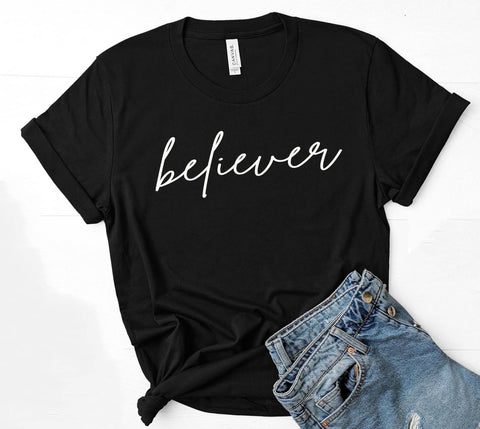 Being Me. Believer Womens Graphic Tee  | Positive Affirmations T shirts | Short Sleeve Top