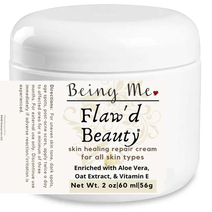 Being Me. Flaw'd Beauty Skin Healing Repair Cream