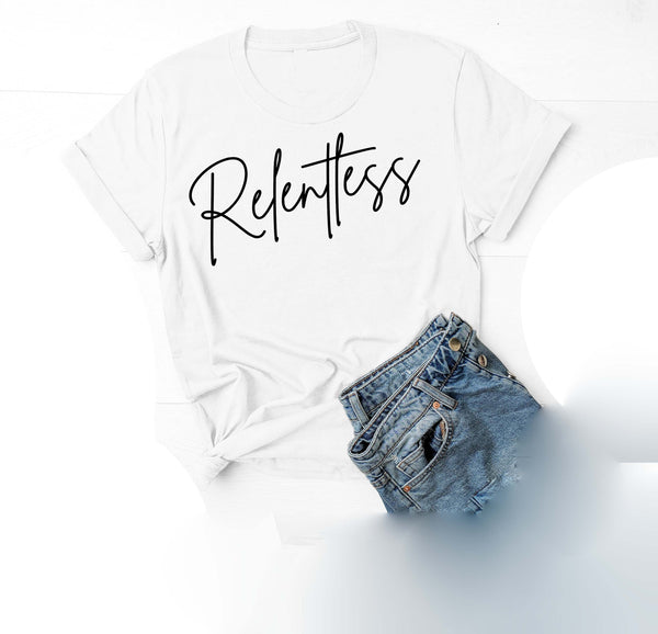 Being Me. Relentless Womens Graphic Tee  | Positive Affirmations T shirts | Short Sleeve Top
