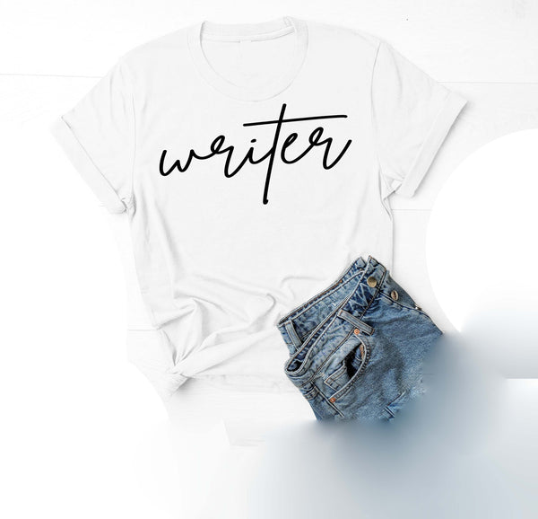 Being Me. Writer Womens Graphic Tee  | Positive Affirmations T shirts | Short Sleeve Top