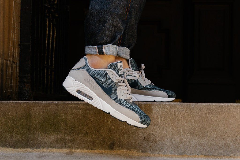 promo code e1590 40cc5 mens nike air max 90 jacquard running shoes wolf grey cadet blue white pure  platinum