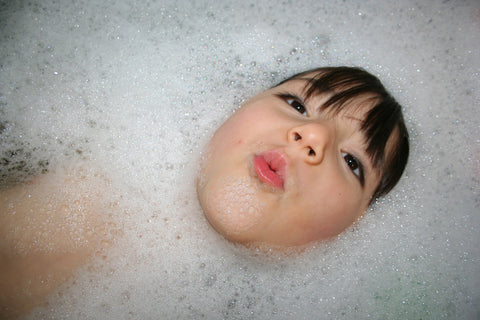 splash in the bath with your child if they are too ill to swim