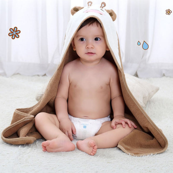 New Kids Towel Toddler 100% Cotton Bathrobe Bath Towel