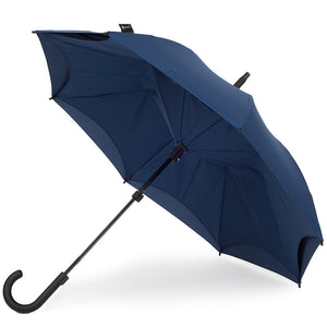 KAZbrella, KAZ, KAZ Designs, Umbrella, KAZ Umbrella, Curve, Curved, Curved Handle, Dark Blue, Deep Blue, Dark Blue / Dark Blue, Deep Blue / Deep Blue, Open,