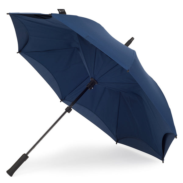 KAZbrella, KAZ, KAZ Designs, Umbrella, KAZ Umbrella, Straight, Straight Handle, Dark Blue, Deep Blue, Dark Blue / Dark Blue, Deep Blue / Deep Blue, Open