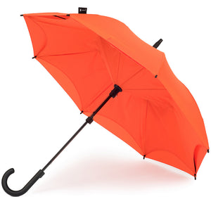 KAZbrella, KAZ, KAZ Designs, Umbrella, KAZ Umbrella, Curve, Curved, Curve Handle, Orange, Orange / Orange, Open,