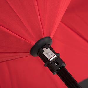 KAZbrella, KAZ, KAZ Designs, Umbrella, KAZ Umbrella, Straight, Straight Handle, Red, Red / Black, Detail,