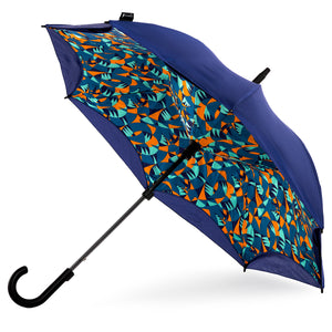 KAZbrella, KAZ, KAZ Designs, Umbrella, KAZ Umbrella, Curve, Curved, Curved Handle, Limited edition, Jazz, Open