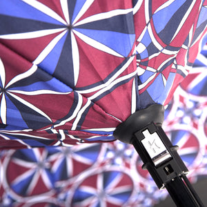 KAZbrella, KAZ, KAZ Designs, Umbrella, KAZ Umbrella, Curve, Curved, Curved Handle, Limited edition, Kaleidoscope, Detail