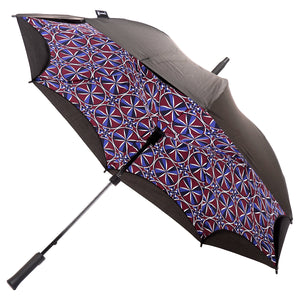 KAZbrella, KAZ, KAZ Designs, Umbrella, KAZ Umbrella, Straight, Straight Handle, Limited edition, Kaleidoscope, Open