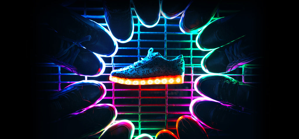 Light Up Shoes: History of LED Shoes – Hoverkicks