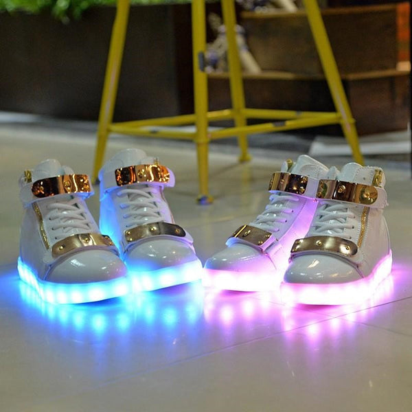 "Light Up Wedding Shoes? This is ""Adulting"" Done Right!"