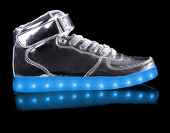HoverKicks Super Nova light up shoes in Metallic Silver - $89.99