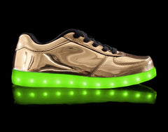 Nova in Gold Light Up Shoes - HoverKicks