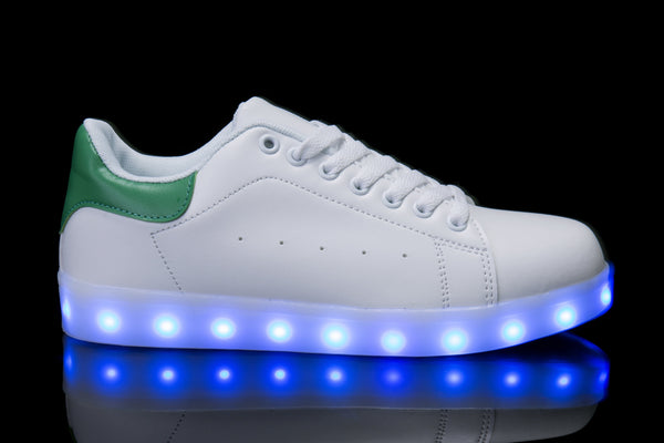 Hoverkick Womens Shooting Stars LED Sneaker (White / Green): PRE ORDER: SHIPS APRIL 26