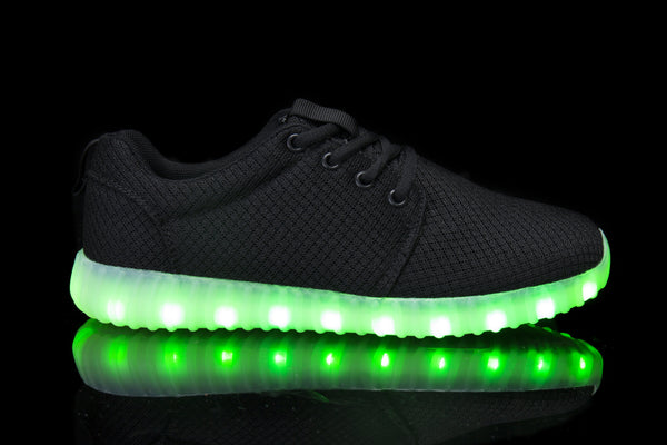Hoverkick Womens Aurora LED Sneaker (Black): PRE ORDER: SHIPS APRIL 26
