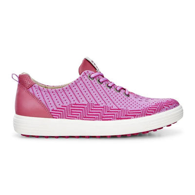 ECCO WOMENS GOLF CASUAL HYBRID KNIT - PINK-BEETROOT/FANDANGO - IN STOCK