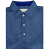 Donald Ross Mens Short Sleeve 2-Color NEAT PRINT Pattern , Self Collar - NAVY/ GRANITE