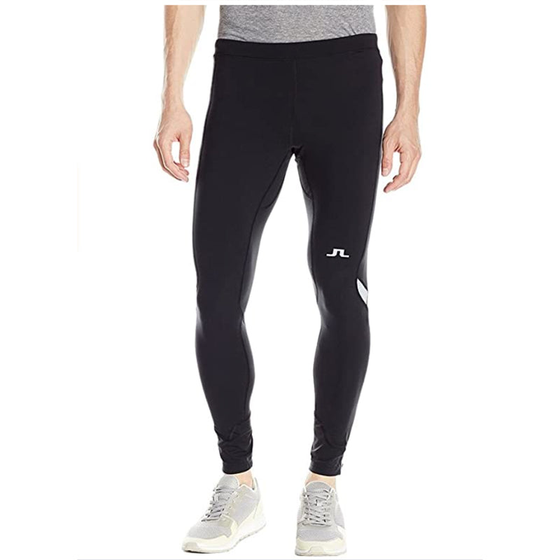 J Lindeberg Men's Running Tights Comp Poly - BLACK