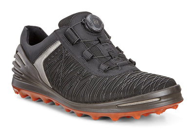 ECCO Men's - ECCO Mens Cage Pro BOA - Spiked Golf Shoes - Black