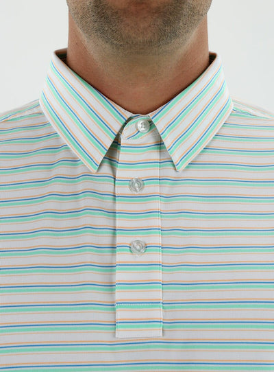 STRAIGHT DOWN MENS GILLEY POLO - MOJITO GREEN