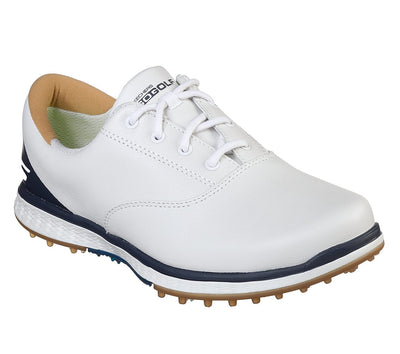 SKECHERS WOMENS GO GOLF ELITE V.2 - ADJUST - WHITE / NAVY