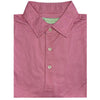 Donald Ross Mens Short Sleeve 2-Color DOTTED PRINT Pattern , Self Collar -FLAMINGO