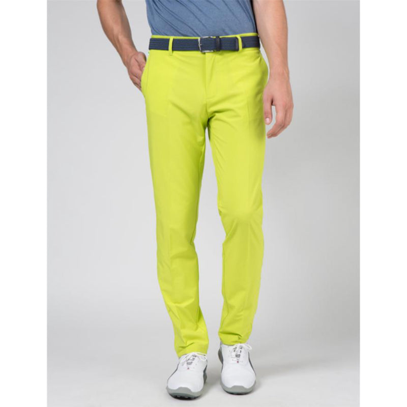 J Lindeberg Men's Troon 2.0 Slim Fit Mirco Stretch Pants - LIME
