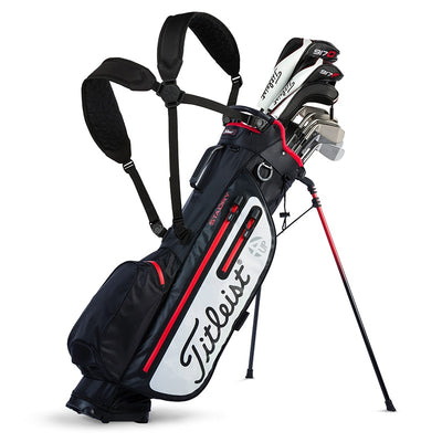 Titleist PLAYERS 4UP STADRY™ STAND BAG - BLACK | WHITE | RED