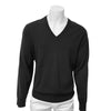 Donald Ross Mens V-Neck Sweater - CHARCOAL