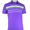 2GG - MENS AD POLO - PURPLE/WHITE/CHARCOAL