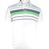 2GG - MENS LARRY POLO - WHITE/GREEN/CHARCOAL