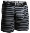 "2UNDR Swing Shift 6"" BoxerBriefs - BLACK STRIPES"