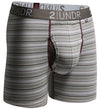 "2UNDR Swing Shift 6"" Boxer Briefs - WHITE STRIPES"