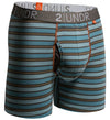 "2UNDR Swing Shift 6"" Boxer Briefs - BLUE/ORANGE STRIPES"