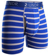 "2UNDR Swing Shift 6"" Boxer Briefs - NAUTICAL STRIPES"