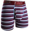 "2UNDR Swing Shift 6"" Boxer Briefs - Burgundy Stripes"