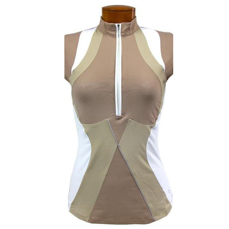 Catwalk Christina Sleeveless Relaxed Fit Top - Sand