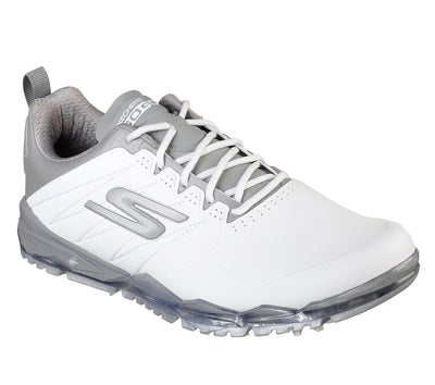 SKECHERS MENS GO GOLF FOCUS - WHITE / GRAY