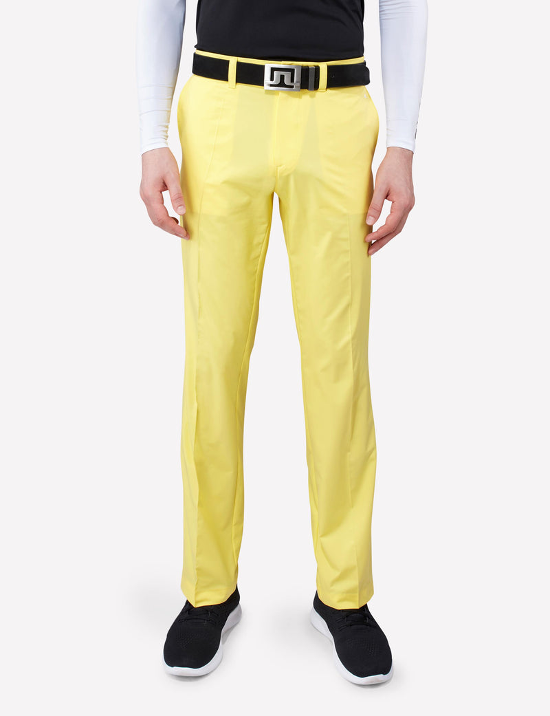 J Lindeberg Men's Elof Regular Fit Light Poly Pants - SUNNY YELLOW