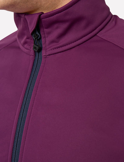 J Lindeberg Men's Thermal Wind Jacket - DEEP PURPLE