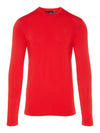 J Lindeberg Men's Merika Lightweight Seamless Shirt - RACING RED