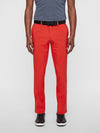 J Lindeberg Men's Ellott Reg Fit Micro Stretch Pants - DEEP RED