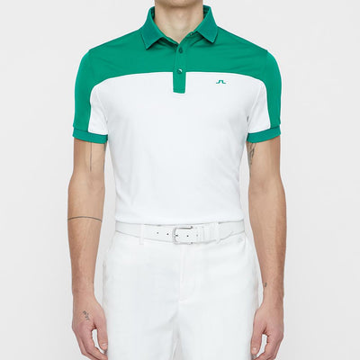 J.LINDEBERG MENS - MATEO REG FIT TX COOLMAX POLO SHIRT - GOLF GREEN