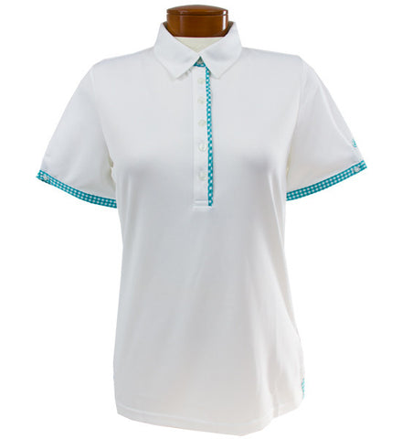 Abacus Lucie Polo - White/Emerald