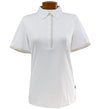 Abacus Lucie Polo - White/Tan