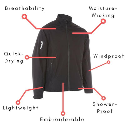 PROQUIP Mens AQUASTORM PX1 RAIN JACKET - BLACK