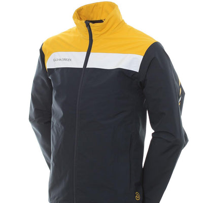 Galvin Green Mens Austin Gore-Tex Waterproof Golf Jacket - NAVY / GOLD